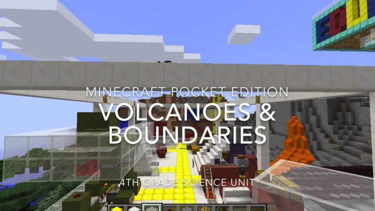 Minecraft in Education: Boundaries & Volcanoes