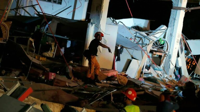 Philippines earthquake kills at least 8, more feared buried