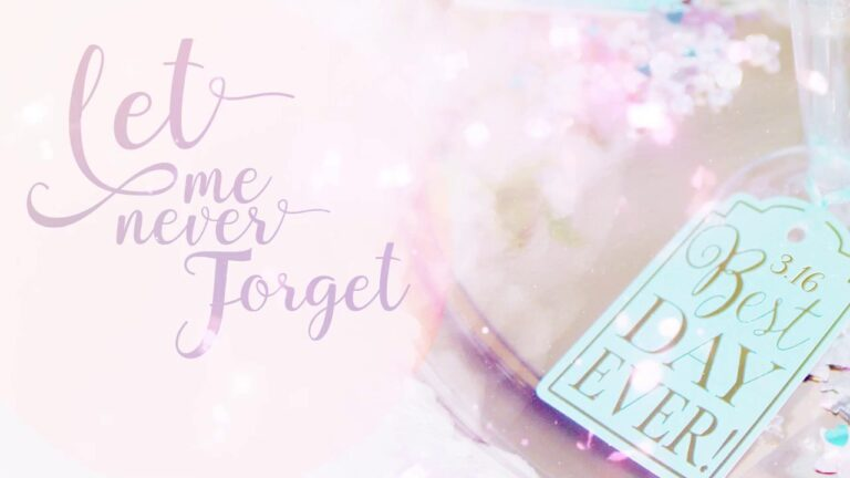 LET ME NEVER FORGET (PEMD)