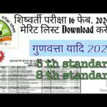 Merit list 16 feb 2020 scholarship exam