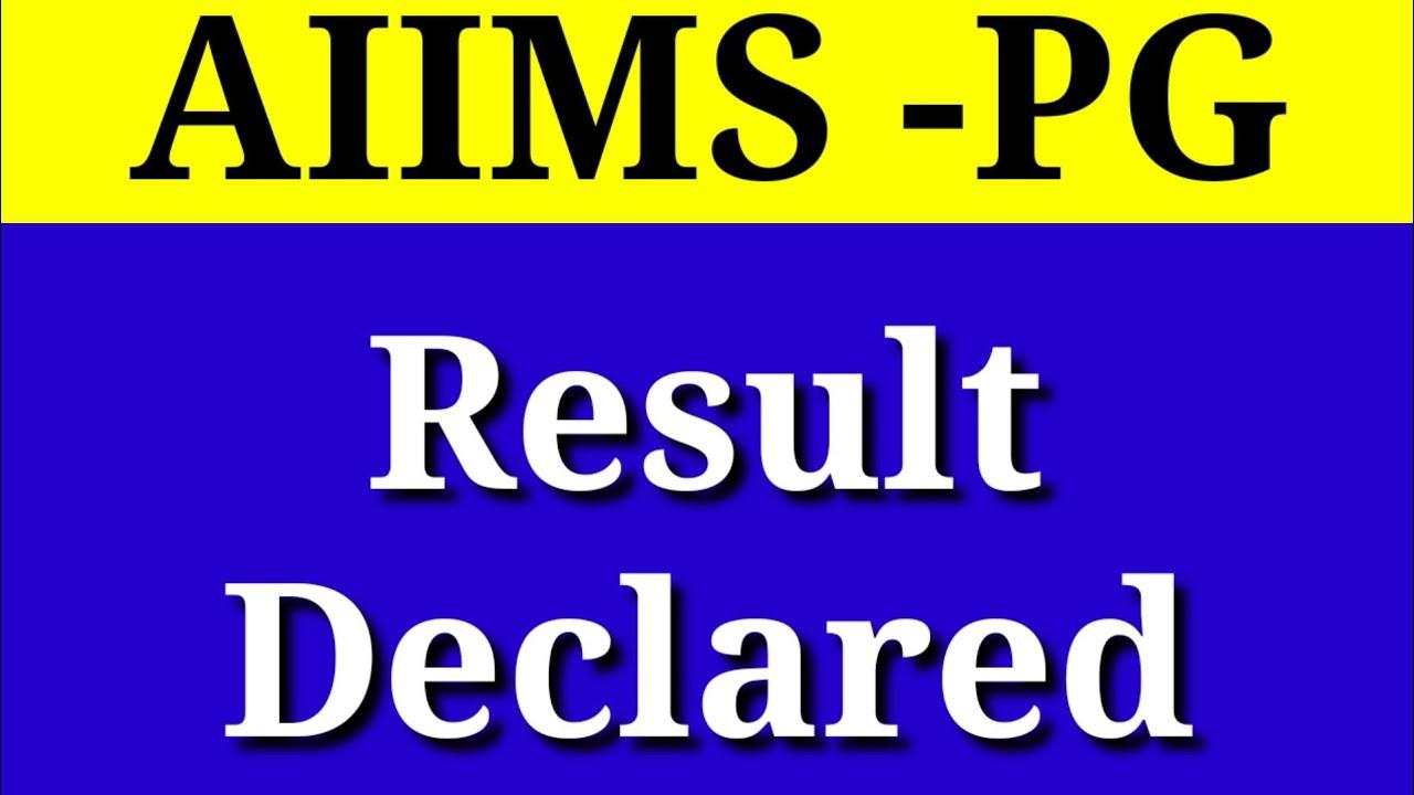 Aiims result 2020/Aiims PG result /Aiims, MS MD Result
