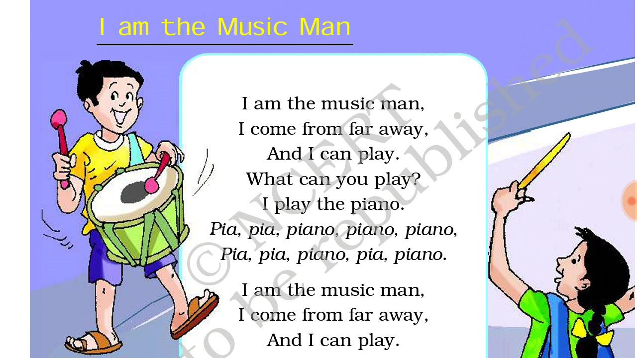 I am the music man हिंदी में ncert class 2nd english book full explanation