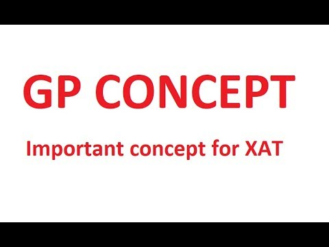 Important Questions For XAT 2019 - GP Concept