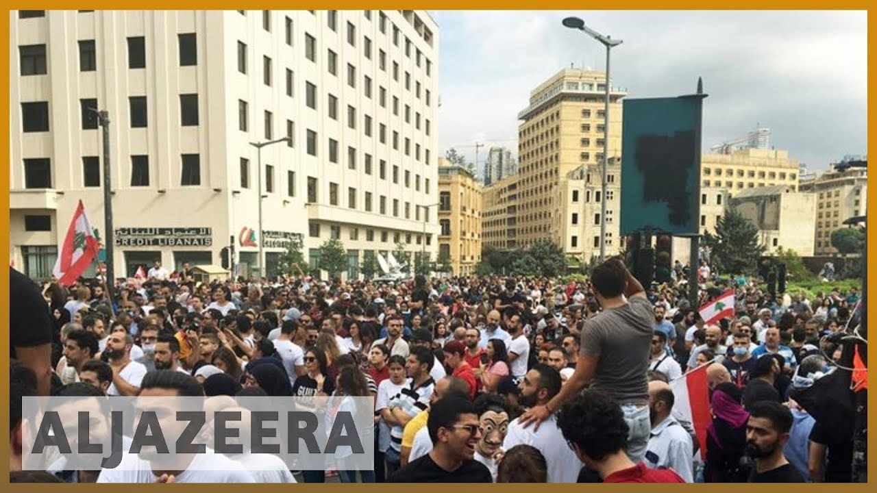 Lebanon protests: Thousands demand 'fall of the regime' in Beirut