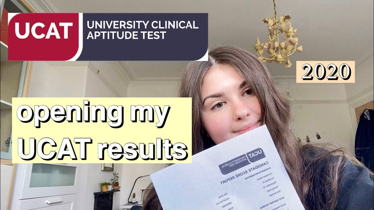 OPENING MY UCAT RESULTS *2020*