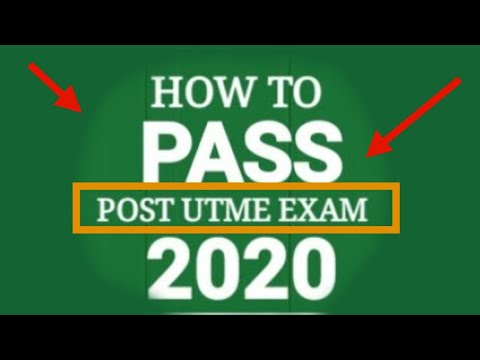 || POST UTME 2020 || 🔵How to Pass POST UTME 2020 Exam (Excellently) + 🔘 (Gain ADMISSION Easily!)