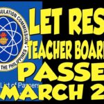 Teacher Board Exam March 2019 Passers (LET)