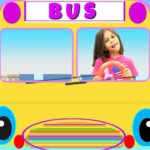 The Wheels on The Bus - English LEarning Music Video by KLS