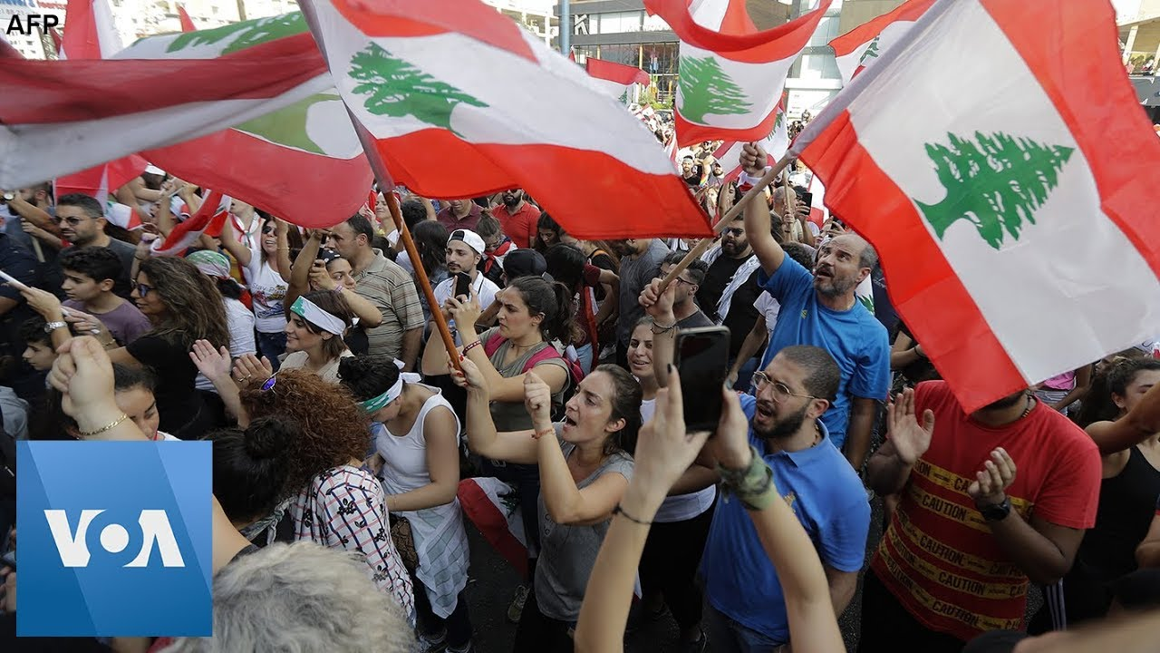 Thousands Gather in Beirut, Lebanon for Anti-Government Protest