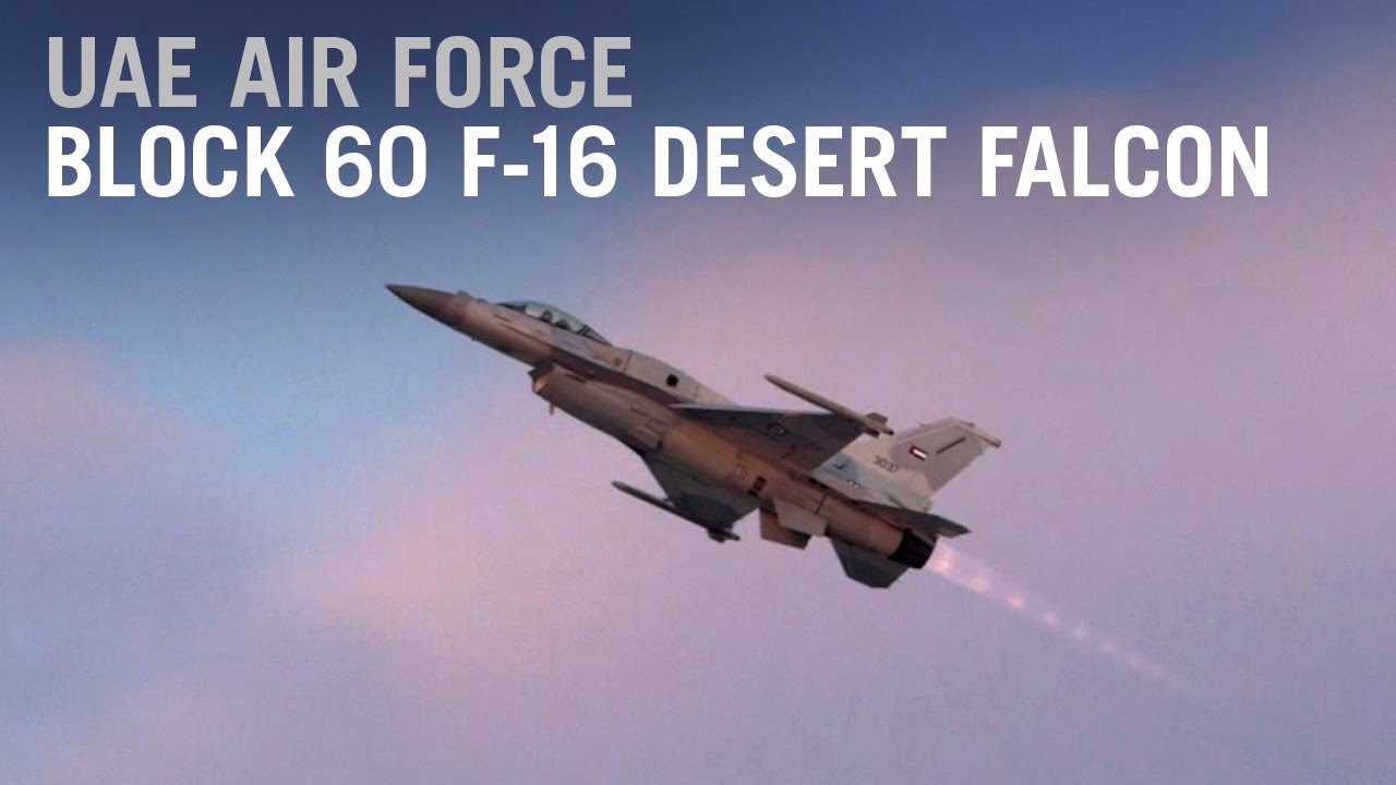 UAE Block 60 F-16 Desert Falcon Engages its Afterburner over Dubai – AIN