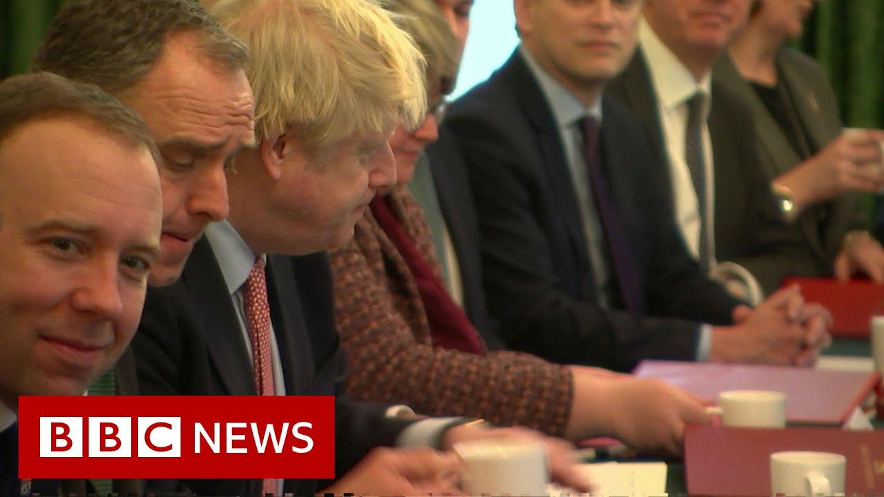 UK election: Victorious Johnson addresses Cabinet - BBC News