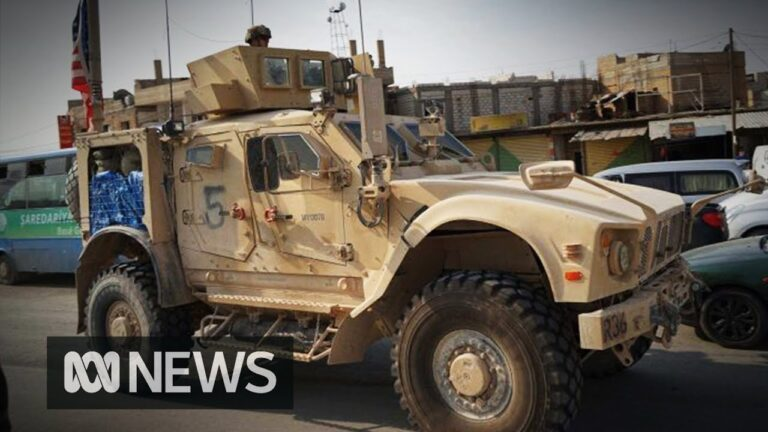 US troops leave Syria as Kurdish fighters & civilians withdraw from Turkey's 'safe zone' | ABC News