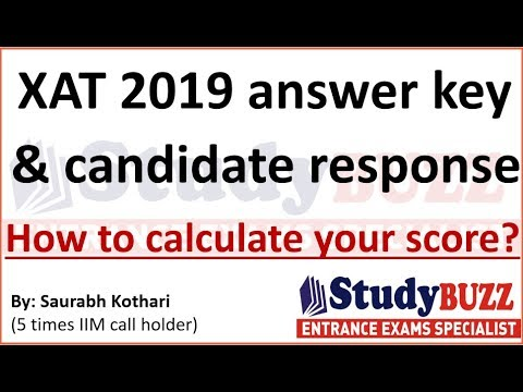 XAT 2019 answey key & candidate response sheet out- Calculate your XAT score