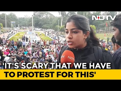 """""""Against Idea Of India"""": Hyderabad Students Protest Citizenship Law (CAA), Register (NRC)"""
