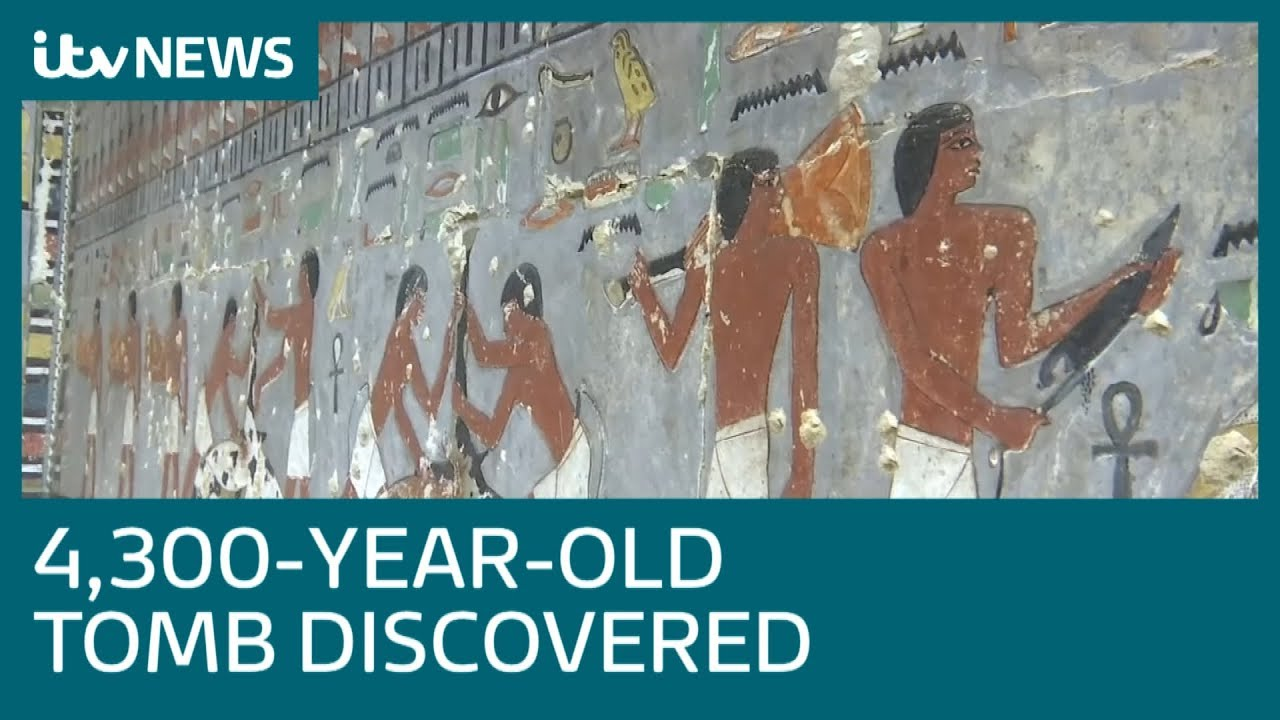 4,300-year-old tomb in Egypt unveiled   ITV News