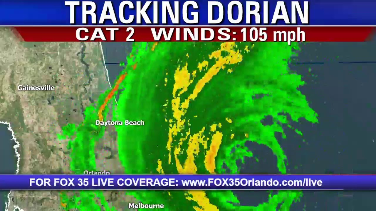 ALL EYES ON DORIAN: We have the latest update on Hurricane Dorian.