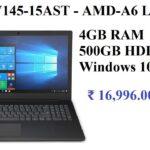 Lenovo V145 15AST AMD A6 Laptop(4GB RAM, 500GB Hard Disk, Windows 10)