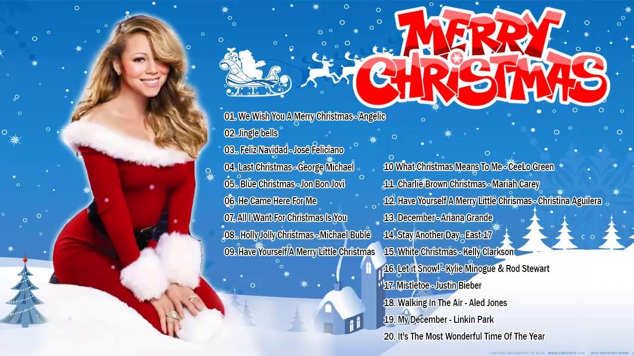 Canciones Navideñas en Ingles   Musica de Navidad en Ingles 2019   canciones de navidad de famosos