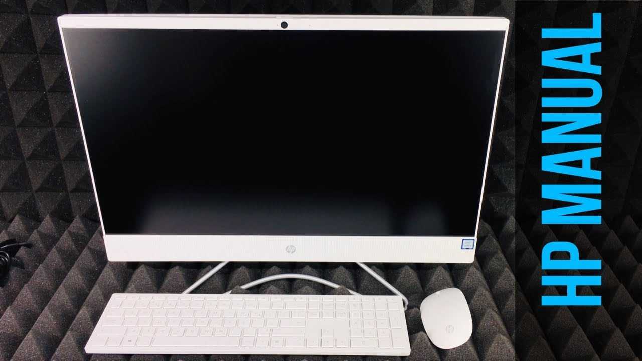 HP Pavilion All-in-One 24-f0009c, i3-8100T SETUP   Manual Guide   Getting Started