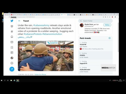 Image of soldier embracing protester in Lebanon goes viral
