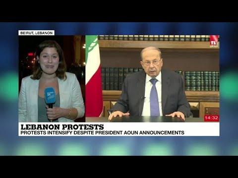 Lebanon protests: Protests intensify despite President Aoun announcements