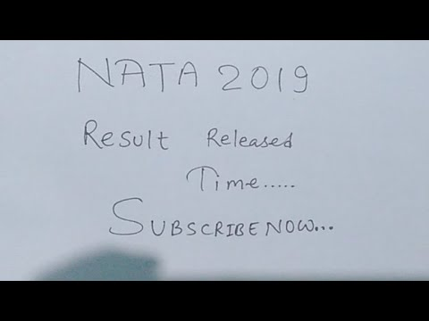 Nata 2019 Result.. Declaration time....