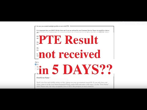 PTE result not received in 5 days? || Next Step?