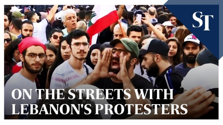 On the streets with Lebanon's protesters | The Straits Times