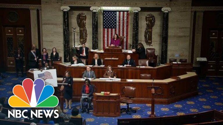 Trump impeached after historic vote | NBC News (Live Stream Recording)