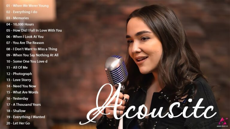 Acoustic Love Songs Cover Playlist - Best English Guitar Acoustic Cover Of Popular Songs 2021