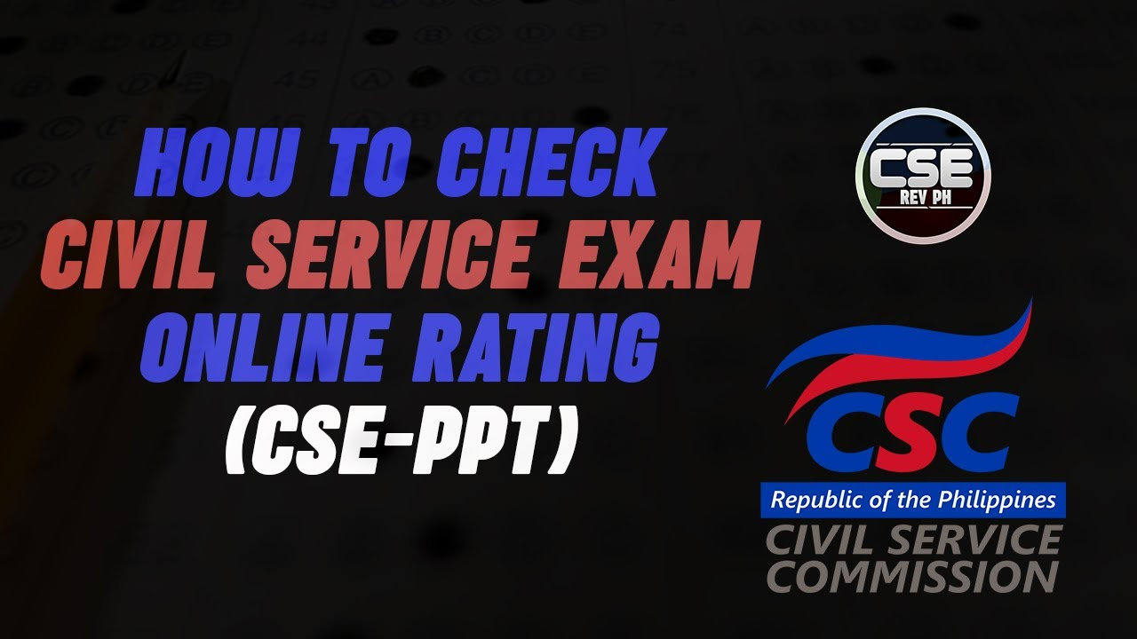 How to Check the Civil Service Exam Rating Online (CSE-PPT)