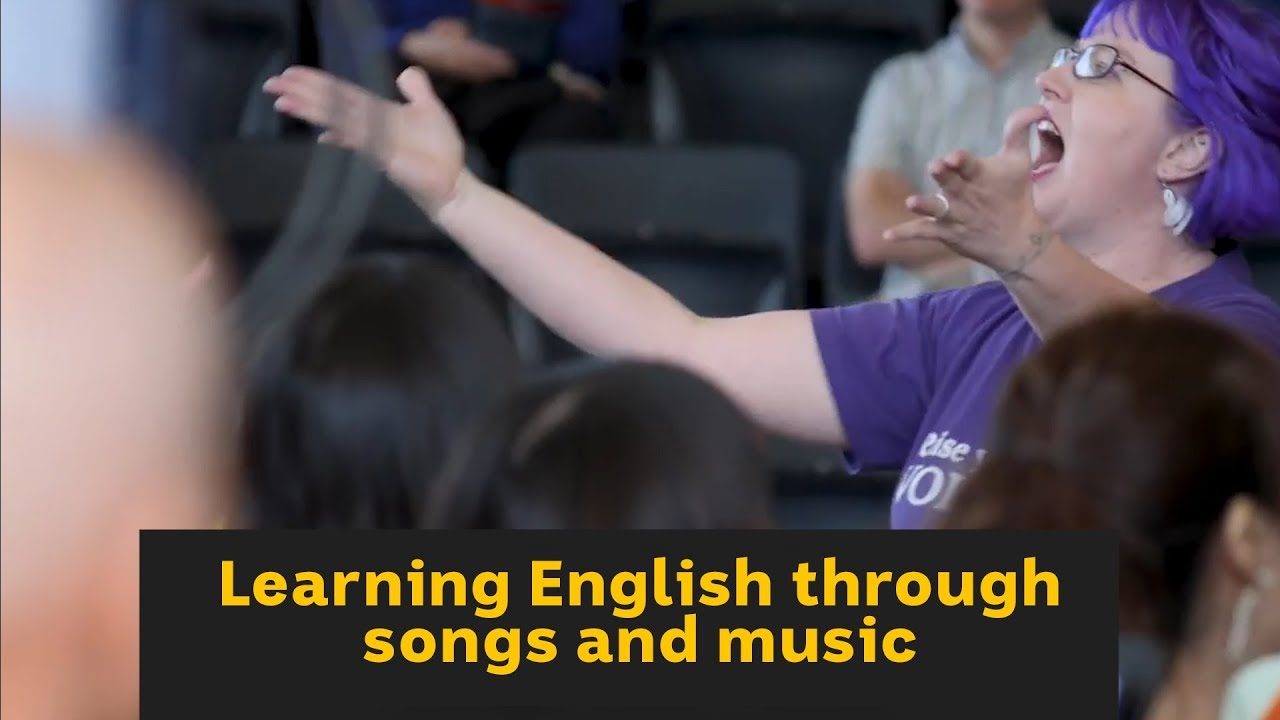 Learning English through songs and music