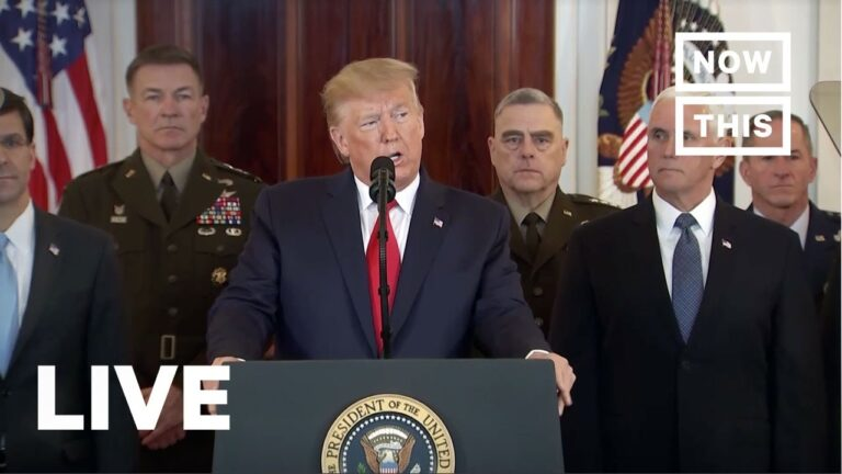 President Trump Addresses Iran Strike Against U.S. Forces | LIVE | NowThis