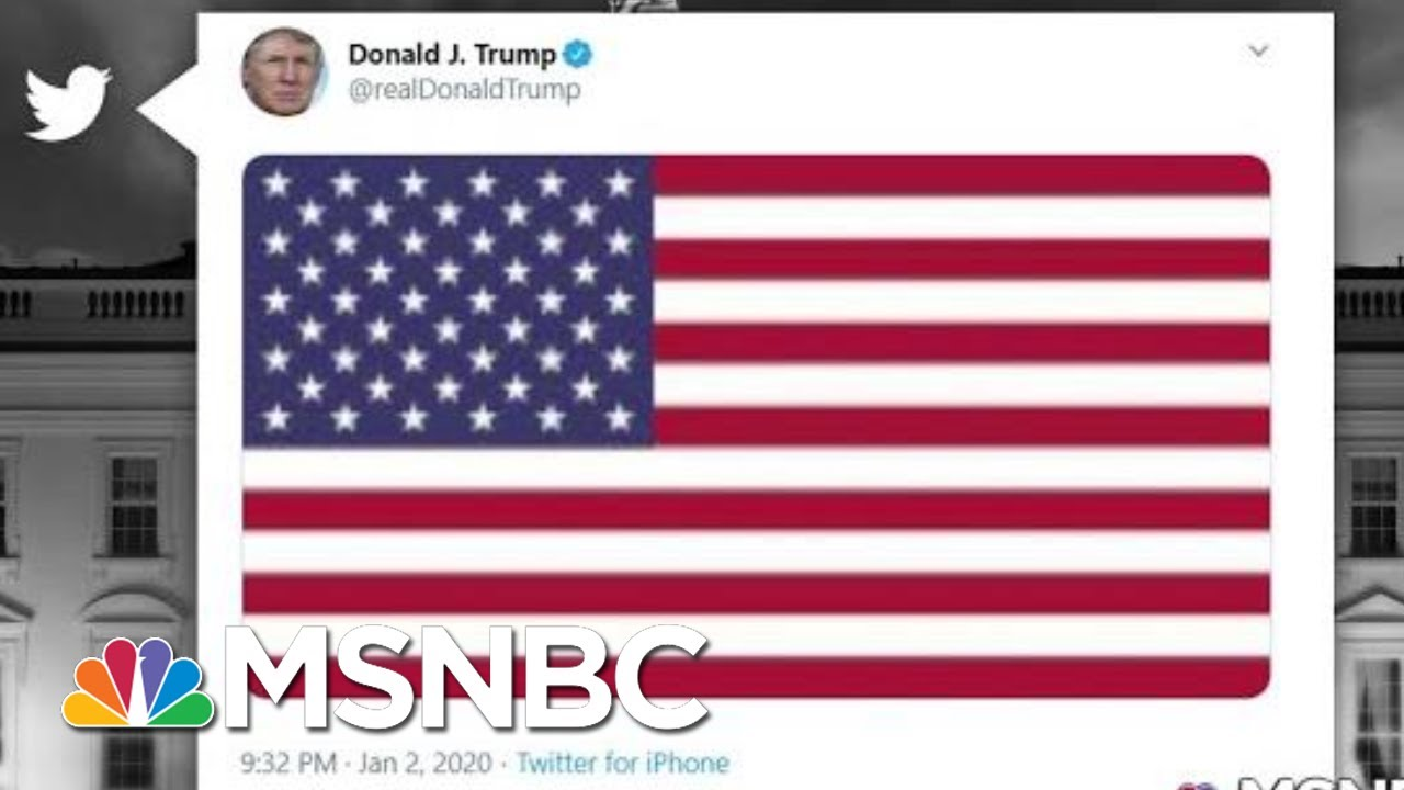 Trump Responds To US Strike Killing Iran's Military Leader With Flag Tweet | The 11th Hour | MSNBC