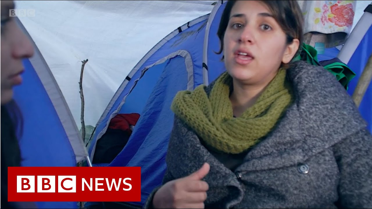 Refugee camps: Pregnant and living in a wet tent - BBC News