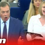 The Brexit Party clashes with pro-EU MEPs in European Parliament