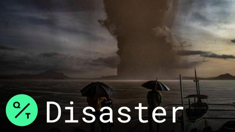 """Taal Volcano Eruption: Witness Describes """"Column of Ash"""""""