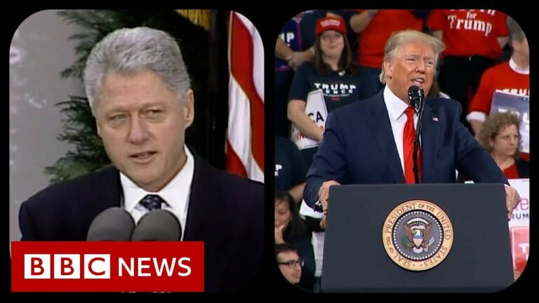 Trump and Clinton's impeachment - what's different now? - BBC News