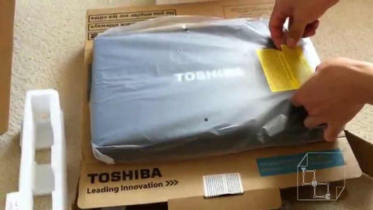 "Unboxing Toshiba Satellite 15.6"" - Intel Core i3-2310M Laptop C650 Black Dual Core i3 2.1 Ghz"