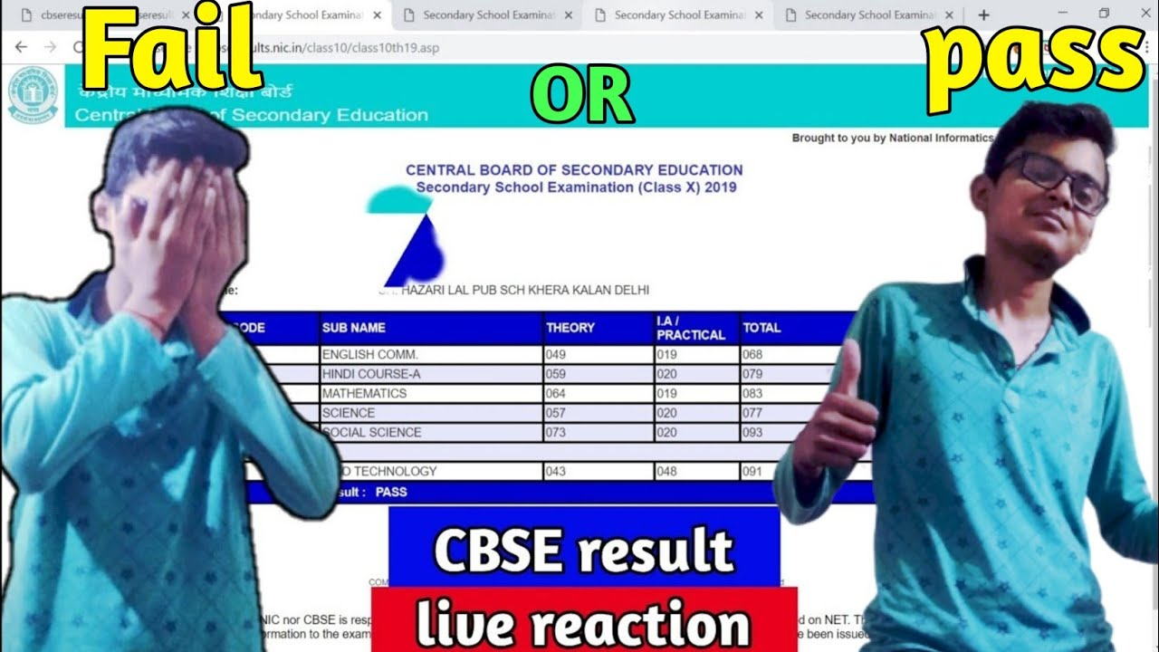 CBSE BOARD EXAM RESULT CLASS 10th 2019    Total Live Reaction 😱    Pass Or Fail ??🔥   MOM'S REACTION