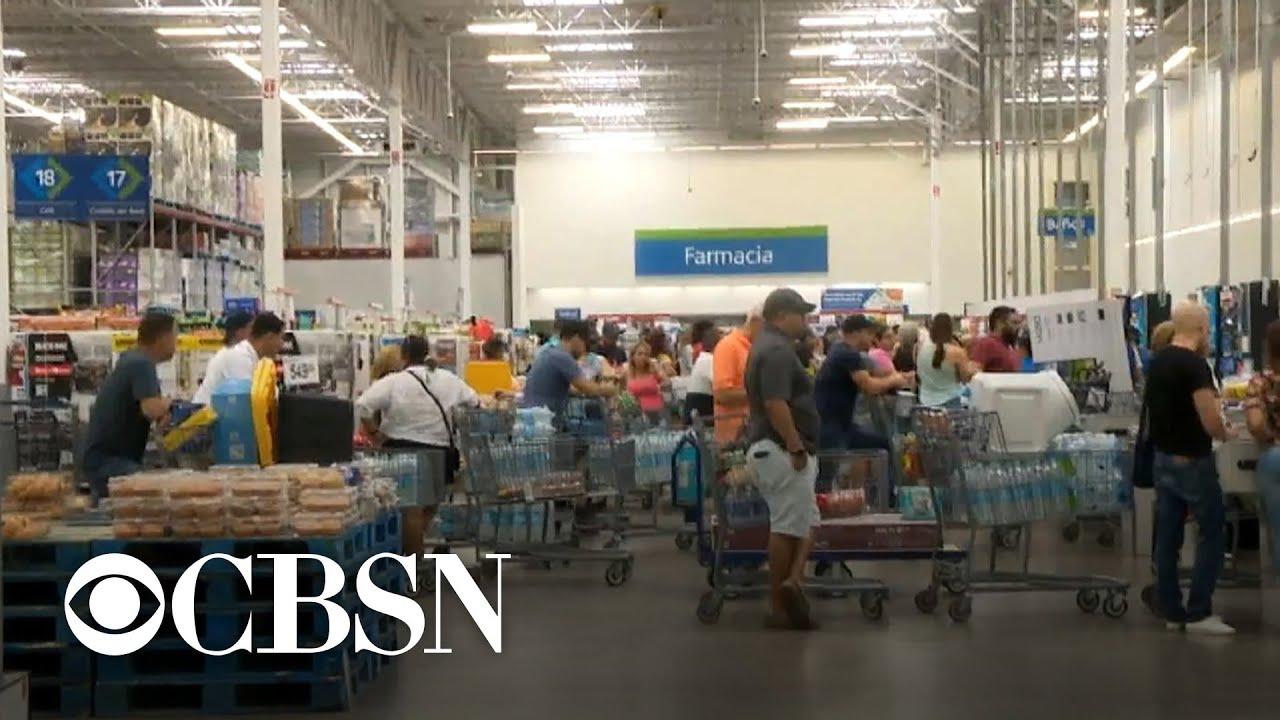 Caribbean islands prepare for Tropical Storm Dorian