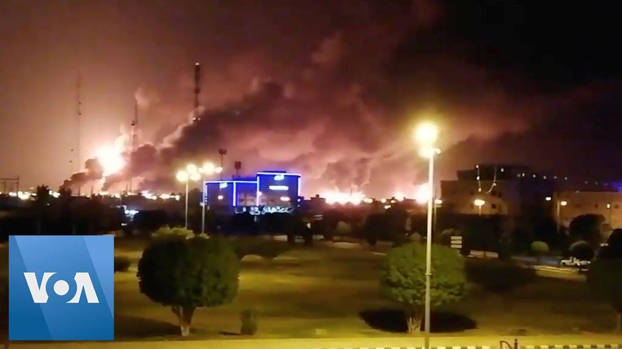 Flames, Smoke Rise Over Aramco Refinery in Saudi Arabia