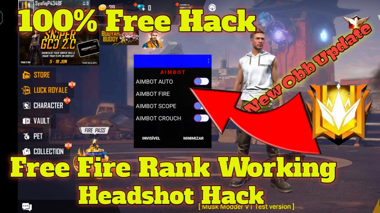 Free Fire Headshot Hacker Live kabir,How To Hack Free fire 2021, FreeFire Rank Working Headshot Hack
