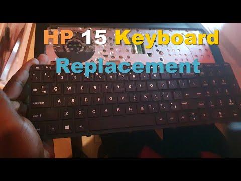 HP 15 Series Laptop Damaged Keyboard Replacement