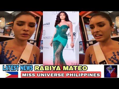LATEST NEWS! RABIYA MATEO MISS UNIVERSE PHILIPPINES