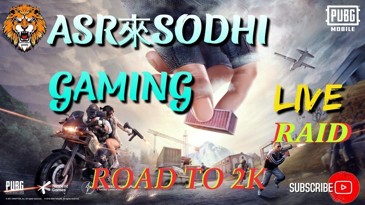 Pubg mobile #Pubg #Mobile #Live #BGMII/Asr Sodhi Gaming/Live Raid/road To 2k/facecam in 2k🔥Lets Go..