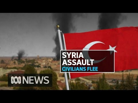 Thousands flee northern Syria as Turkey continues assault   ABC News