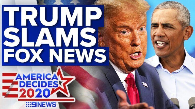 Trump lashes Fox News after Obama broadcast | 9 News Australia