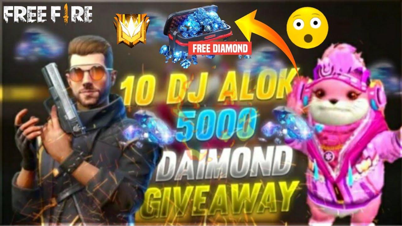 DJ ALOK GIVEAWAY    DIAMOND GIVEAWAY FREE FIRE    MJ GAMING YT