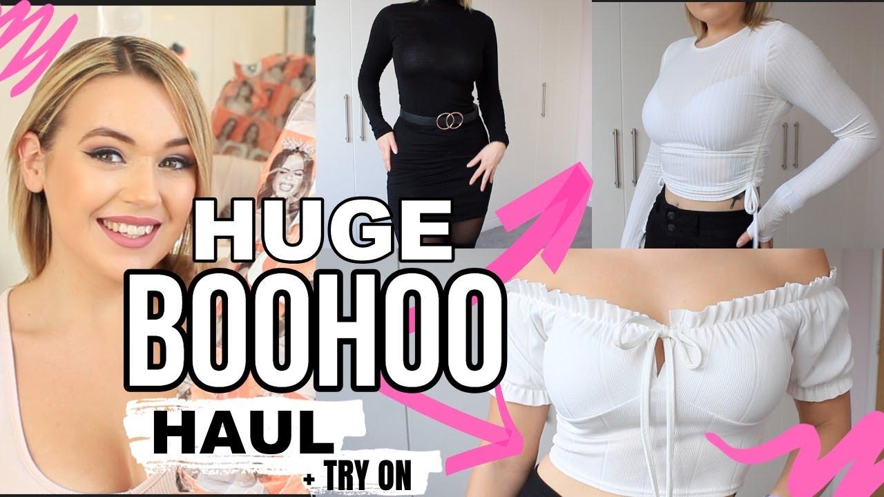 Huge size 8 Boohoo haul + try on! UK Winter season honest review